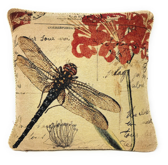 Tache Fly High Dragonfly Throw Pillow Cushion Cover (15044) - Tache Home Fashion