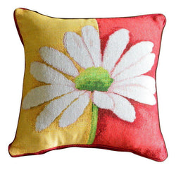 Tache Loves Me Not Daisy Tapestry Throw Pillow Cushion Cover (9046) - Tache Home Fashion
