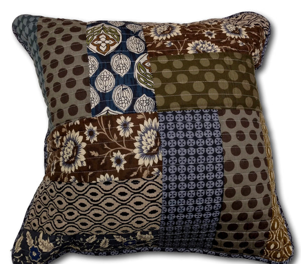 "Cushion Cover - Tache Royal Chambers Floral Navy Blue 1-Piece 26x26"" Euro Sham"