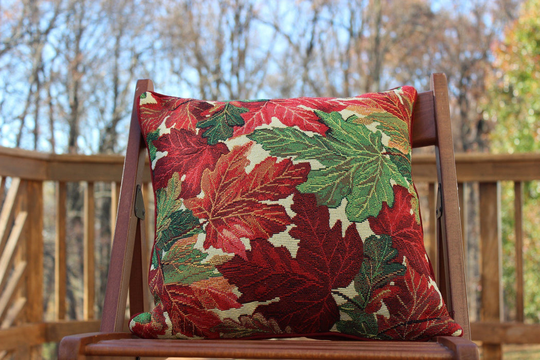 Cushion Cover - Tache Warm Colorful Thanksgiving Leaves Fall Foliage Cushion Throw Pillow Cover