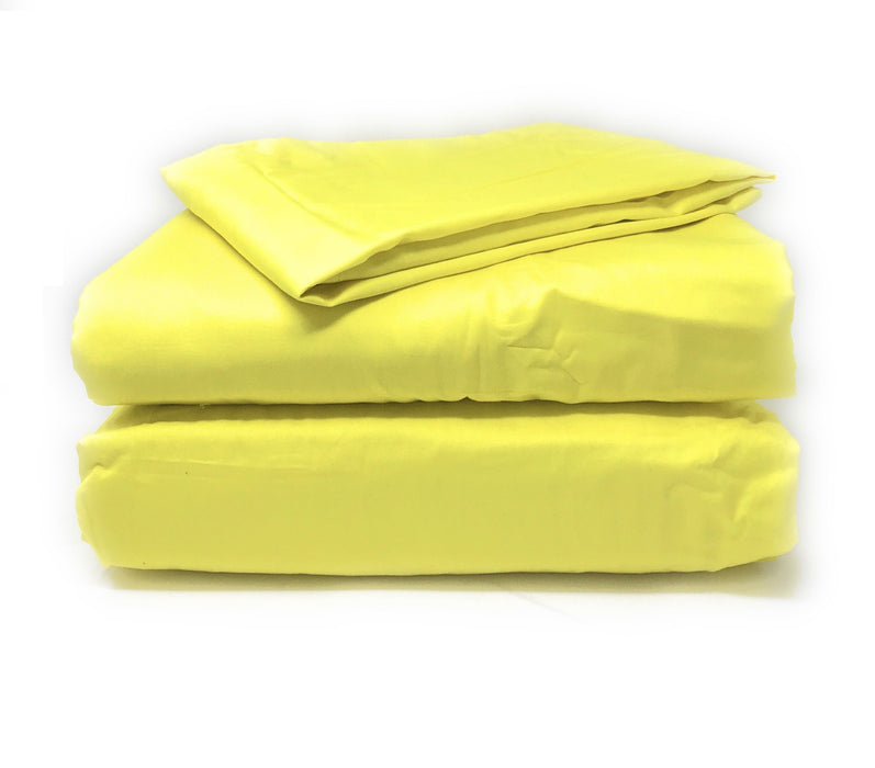 Tache 2-3 Piece 100% Cotton Sunny Yellow Solid Duvet Cover Set (TA2-3PDUV-Yellow) - Tache Home Fashion
