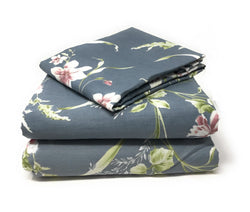 Tache Cherry Blossom Cotton Grey Floral Duvet Cover (2162) - Tache Home Fashion