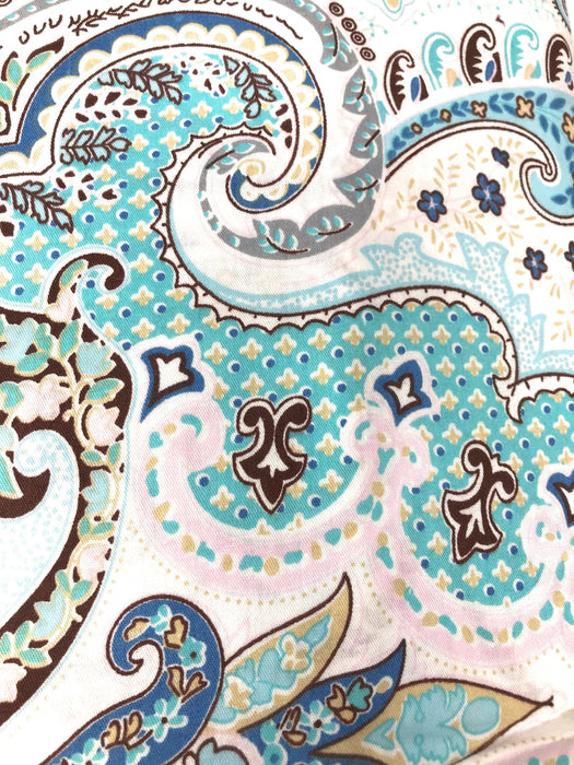 Tache Cotton Frozen Forest Blue Paisley Duvet Covers Set (2172) - Tache Home Fashion