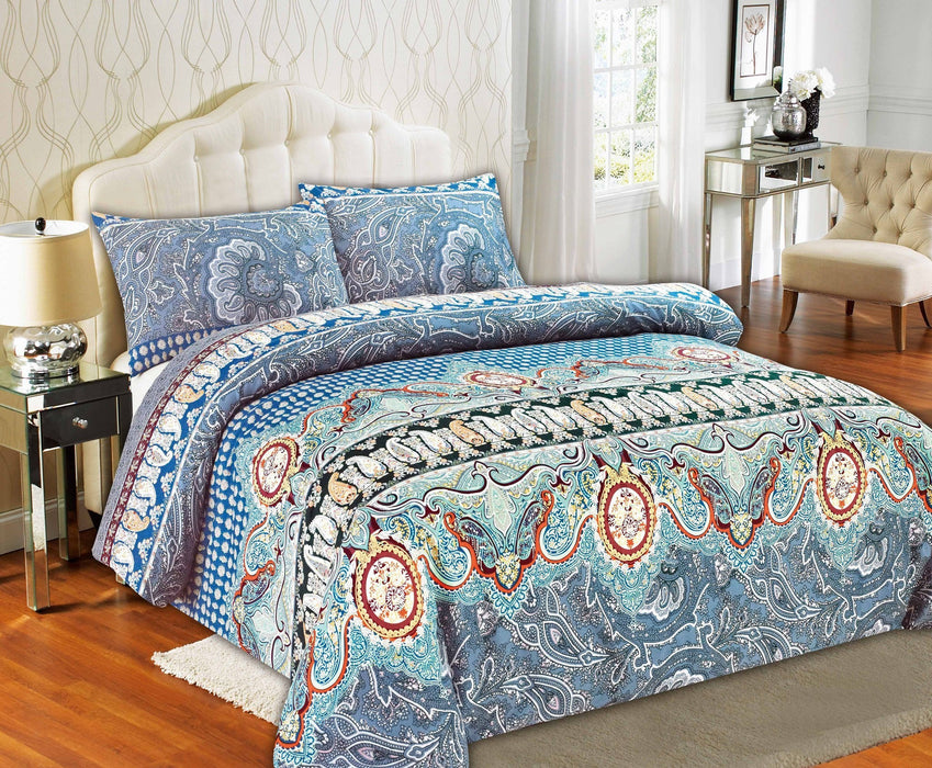 Tache Paisley Monarch Duvet Cover Set (2814) - Tache Home Fashion