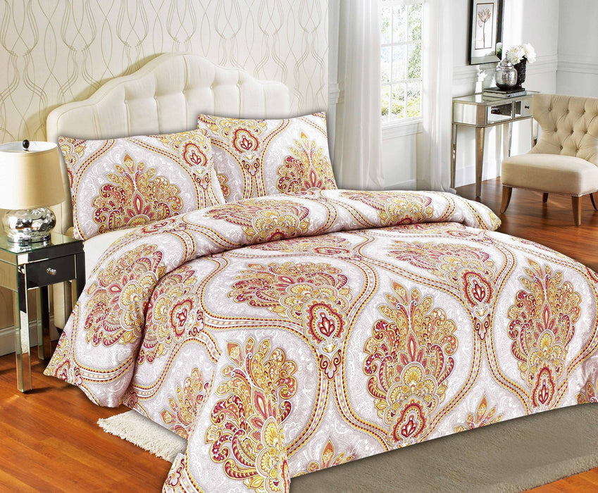 Tache Sunshine Festival Gold Paisley Duvet Cover (2811) - Tache Home Fashion