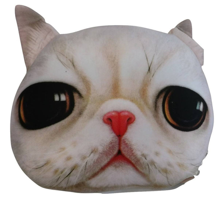 Microbead Pillows - Tache Squishy Cute Cat Realistic Microbead Throw Pillow
