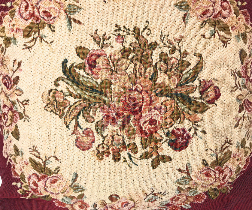Tache 1-2 Chenille Woven Floral Holiday Red Rose Pillow Sham (DSC0022) - Tache Home Fashion