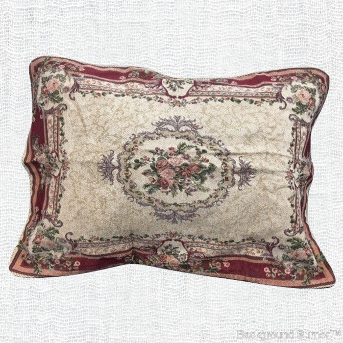 Tache 1-2 Chenille Woven Floral Red Spring Blossoms Pillow Sham (DSC004) - Tache Home Fashion