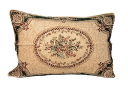 Tache 1 Chenille Floral Green Forest Medallion Woven Pillow Sham (DSC0011) - Tache Home Fashion