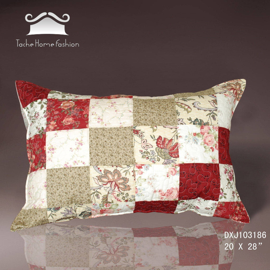 Pillow Case - Tache 100% Cotton 2 Piece Country Cottage Pillow Sham