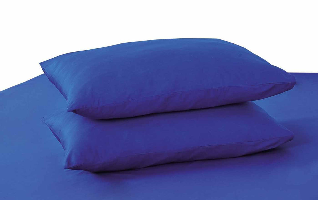 Tache Cotton Solid  Blue Cotton Pillowcase (10012-B) - Tache Home Fashion