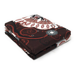 Tache Burgundy Palace Paisley Medallion Pillowcases (2810-PC) - Tache Home Fashion