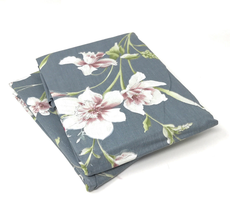 Tache 2 Piece Cotton Cherry Blossom Dusk Floral Grey Rustic Pillow Covers (TA2162-PC) - Tache Home Fashion