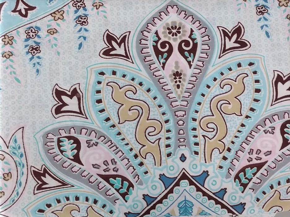 Tache Frozen Forest Cotton Blue Paisley Pillowcases (2172-PC) - Tache Home Fashion