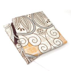Tache Maroon Mandala Ivory Damask Pillowcases (2131-PC) - Tache Home Fashion