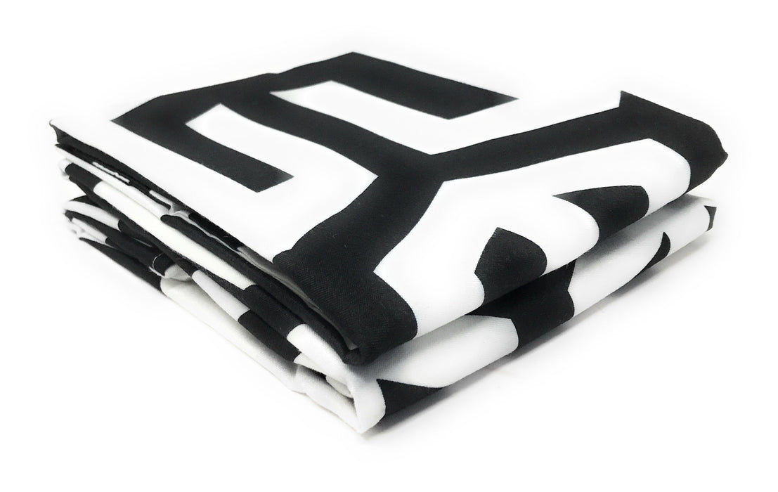 Tache 2 Piece Sophisticated Condo Monochrome Fancy Pillow Covers (TA2141-PC) - Tache Home Fashion