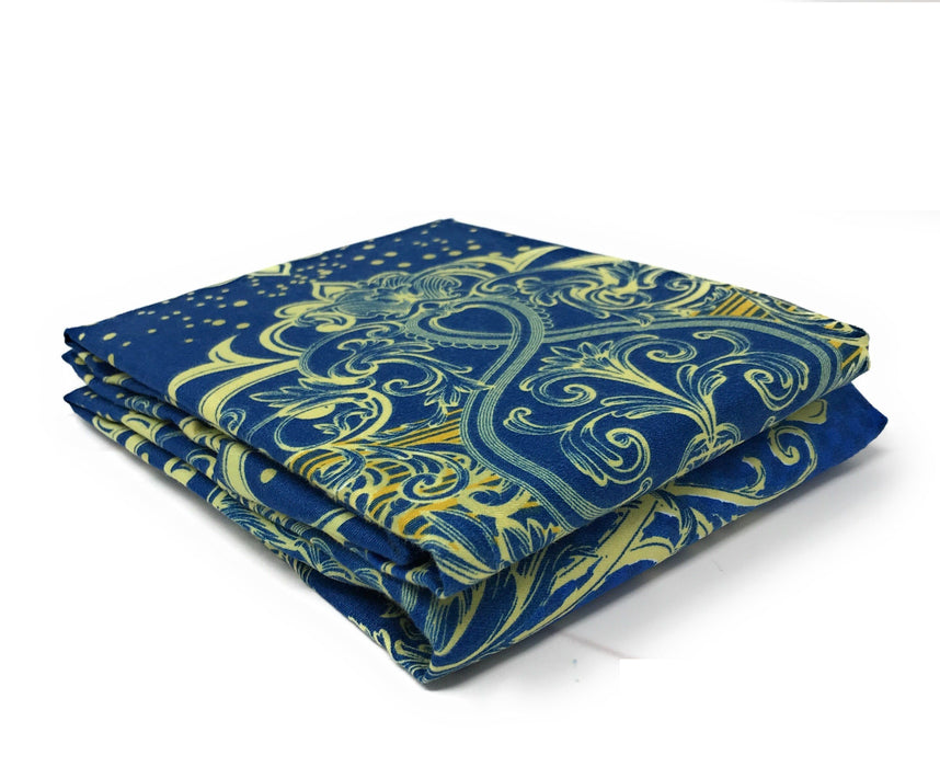 Tache Star Gazing Blue Damask Pillowcases (2133-PC) - Tache Home Fashion