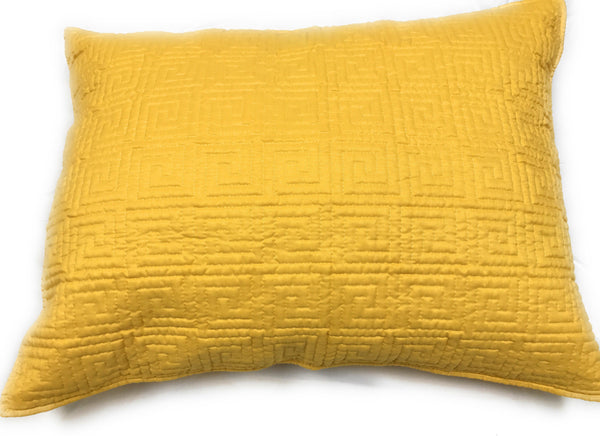 "Tache Home Fashion Solid Yellow Brick Road Quilted Queen Pillow Case, 20"" x 30"" 1 Piece (DXJ103440) - Tache Home Fashion"
