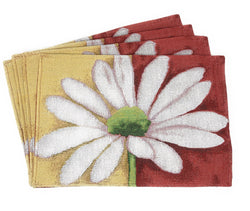Tache Loves Me Not Daisy Tapestry Placemat Set 4 Piece (DB9046PM-13 X 19) - Tache Home Fashion