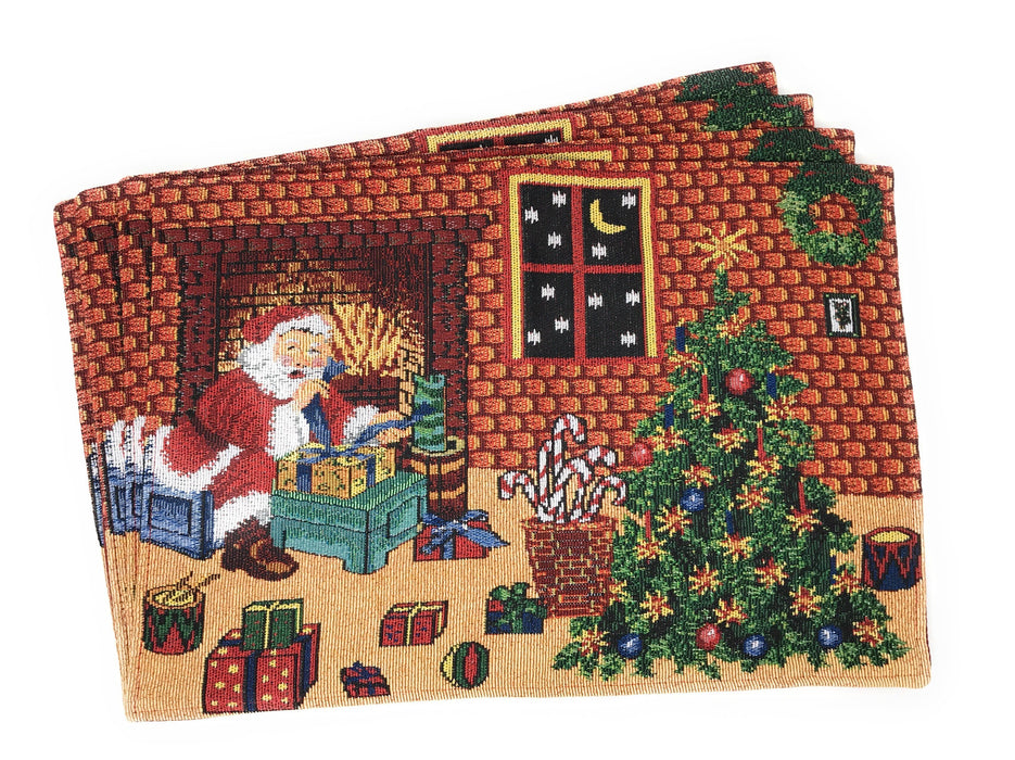 Tache Festive Last Minute Preparations Tapestry Placemats (DB11869PM-1319) - Tache Home Fashion