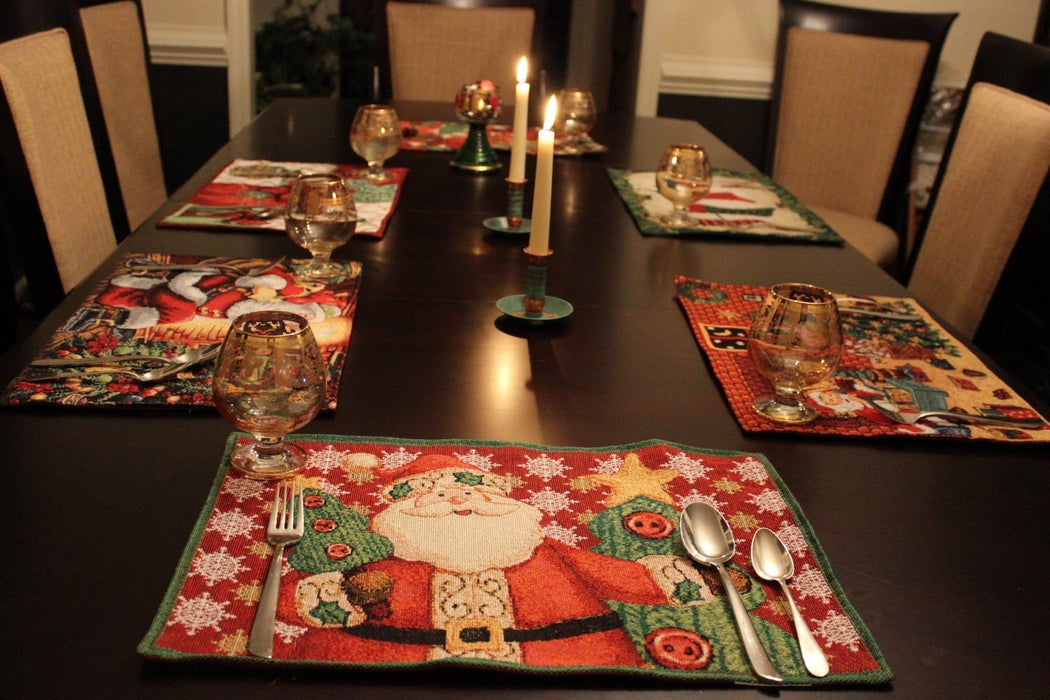 Tache Santa Clause Is Coming to Town Placemat (DB15191PM-1319) - Tache Home Fashion