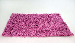Tache Cotton Chenille Hot Pink Shag Area Rug (MATP) - Tache Home Fashion