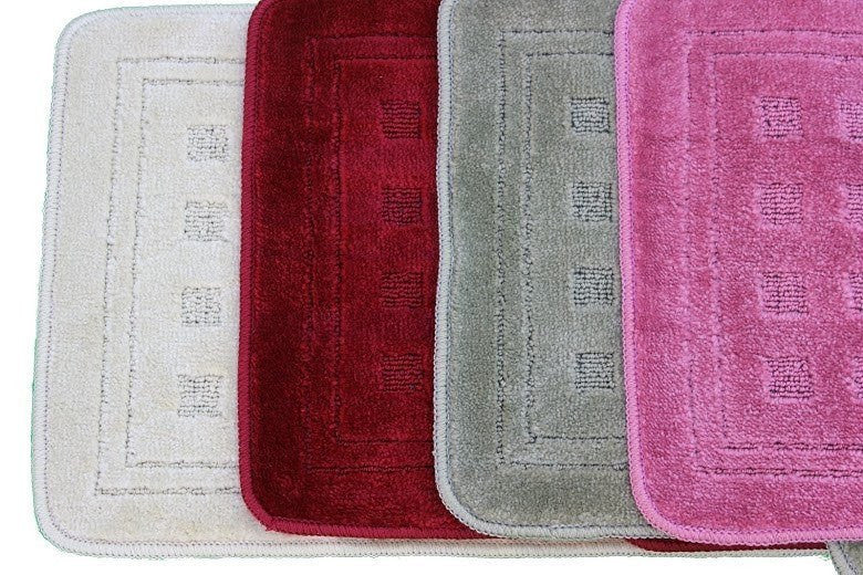 Tache 2 Piece Solid Bathroom Rug (TA2PCMF) - Tache Home Fashion