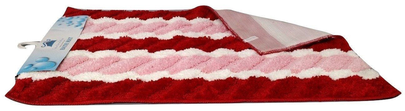 Rugs - Tache Striped Red & Pink Valentine Floor Mats Rug