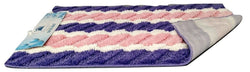 Rugs - Tache Super Absorbent Purple And Pink Striped Microfiber Wild Flower Floor Mats / Rugs