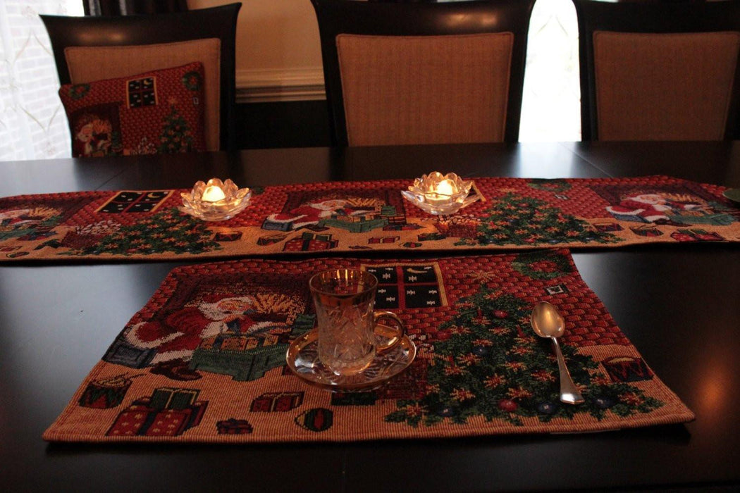 Tache 8 Piece Christmas Last Minute Table Set (TA-DB11869PM-8PCST) - Tache Home Fashion