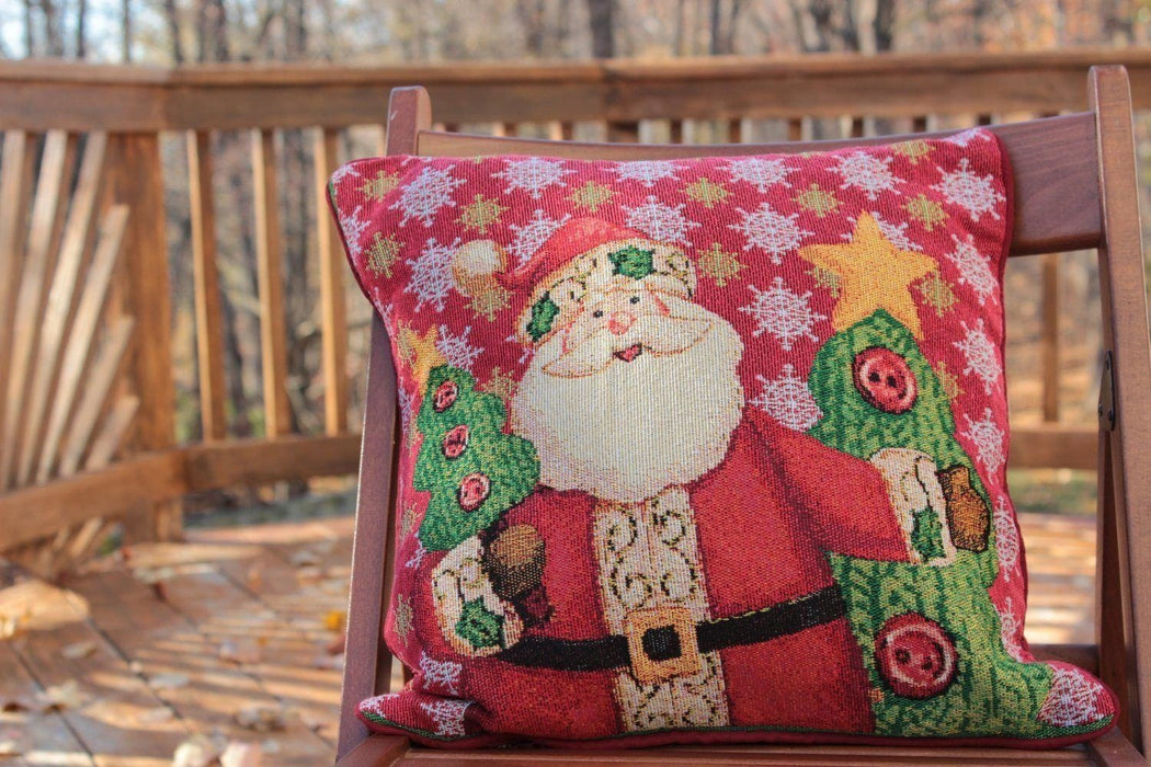 8 Piece Santa Clause Is Coming To Town Table Set, 2 Table Runners, 2 Cushion Covers, and 4 Placemats (DB15191PM-8PCST) - Tache Home Fashion