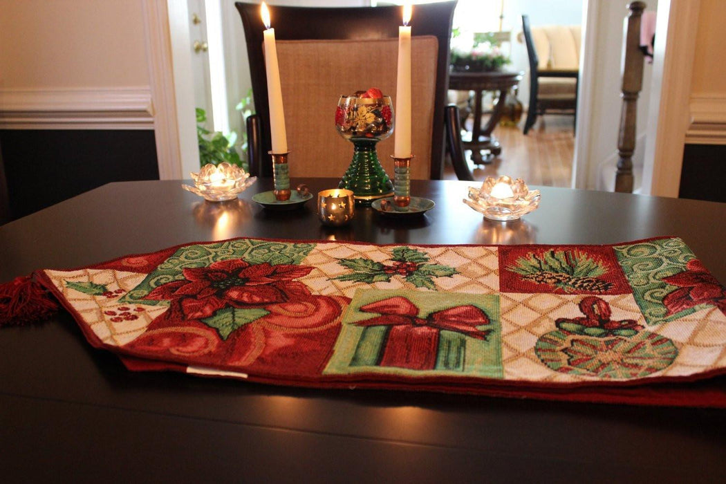 Tache 8 Piece Christmas Tidings Table Set (DB12900PM-8PCST) - Tache Home Fashion