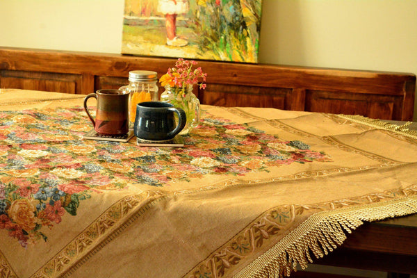 Tablecloths - Tache Colorful Country Rustic Floral Morning Awakening Woven Tapestry Tablecloth
