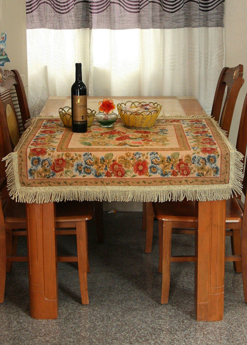 Tache Colorful Floral Country Rustic Morning Meadow Tablecloths (DBTC-5598-45) - Tache Home Fashion