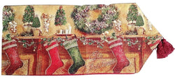 Tache Festive Christmas Hung With Care Table Runner (DB14605) - Tache Home Fashion