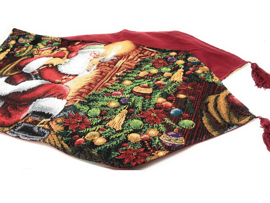 Tache Festive Down the Chimney Woven Tapestry Table Runners (DB11533) - Tache Home Fashion