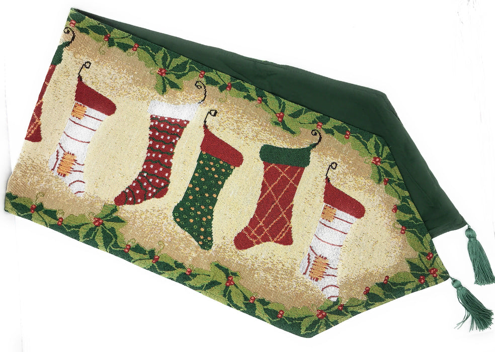 Tache Hang My Stockings By the Fireplace Table Runners (DB12910) - Tache Home Fashion