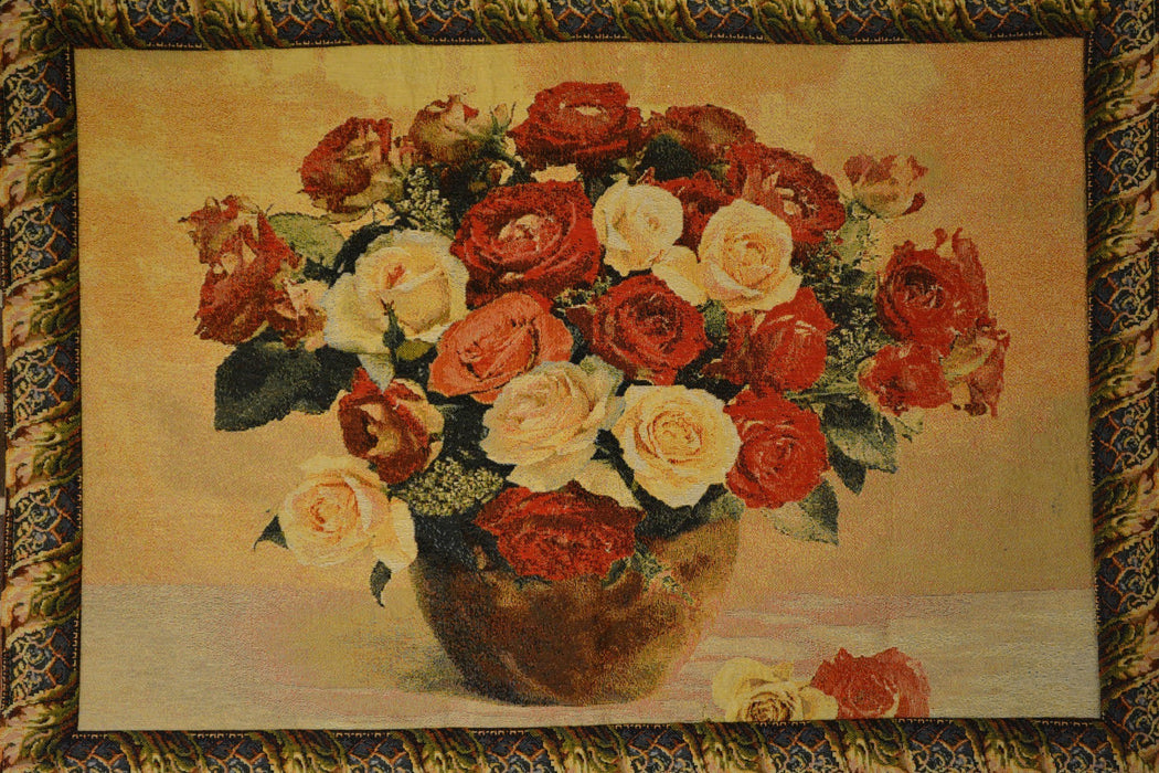Tache 27 x 20 Inch Red Valentine's Proposal Floral Tapestry Wall Hanging (WH-12442E) - Tache Home Fashion