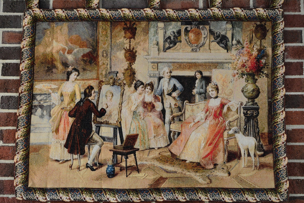 Tache 28 x 41 Inch Rococo English Picture Day Tapestry Wall Hanging With Hanging Loops (WH-15394) - Tache Home Fashion