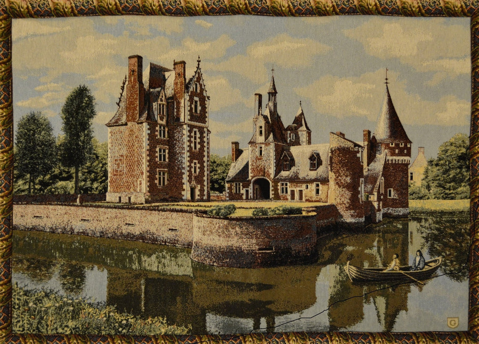 Tache Victorian Style Woven Summertime Manor Tapestry Wall Hanging (TAWH-3562HL2) - Tache Home Fashion