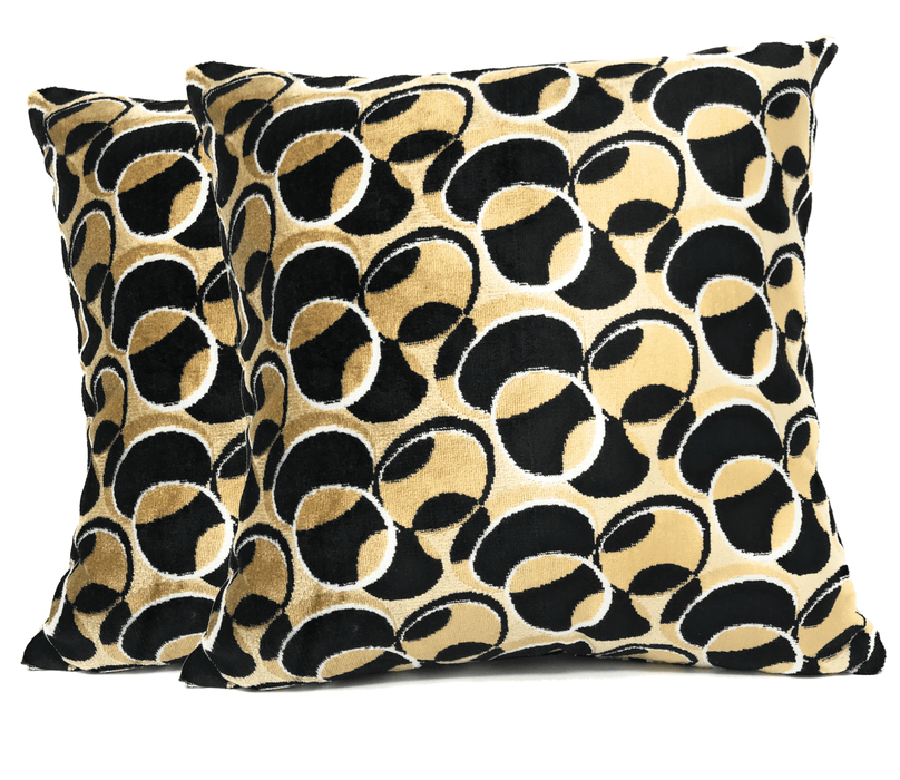 Tache 18 X 18 Inch Geometric Eternal Eclipse Throw Pillow Cushion Covers (YLGP-02) - Tache Home Fashion