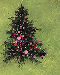 Splatter Christmas Tree