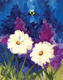 Bee & Flowers Painting
