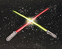 Light Sabers Painting