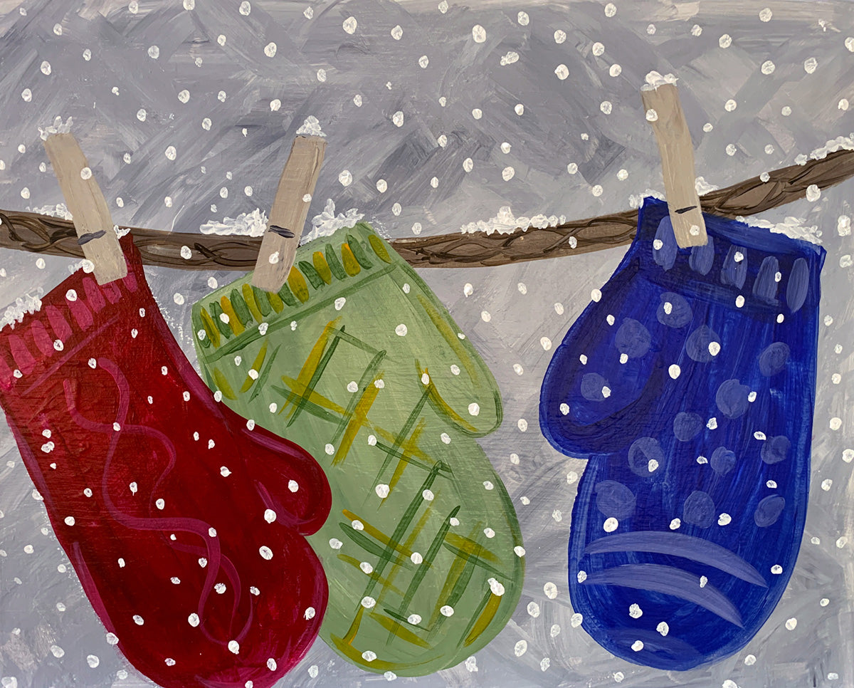 Cozy Mittens Paint-at-Home Kit