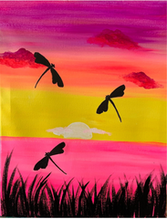 Dragonfly Sunset Paint at Home Kit