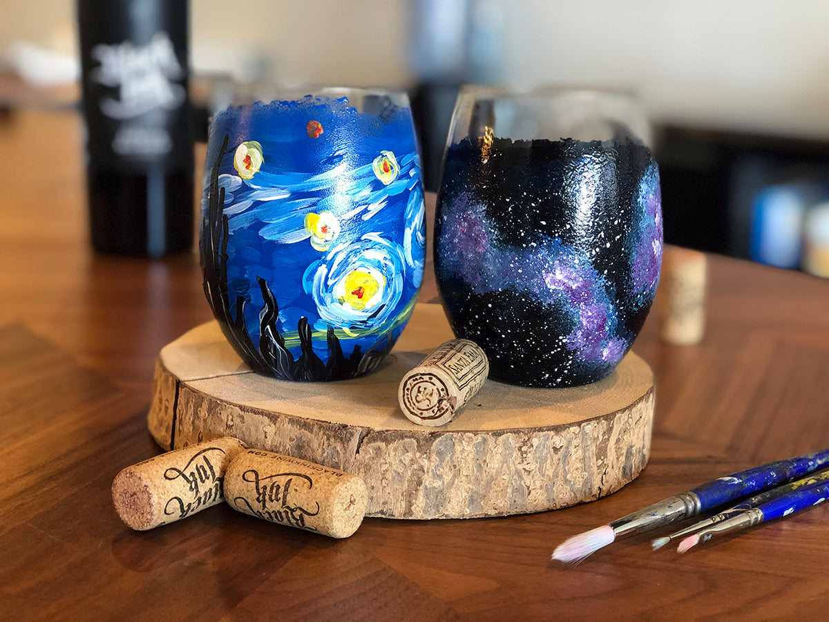 Starry Galaxy Wine Glasses