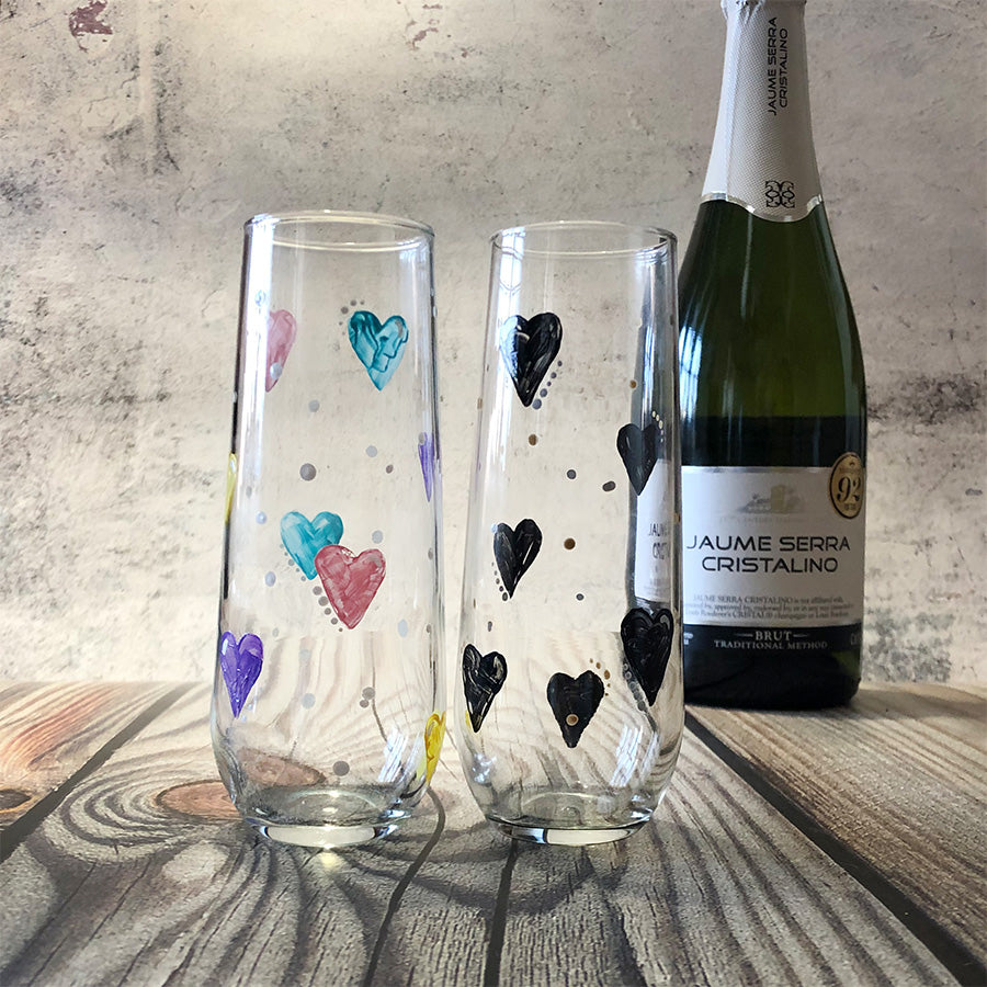 Valentine's Champagne Glasses Paint-at-Home Kit