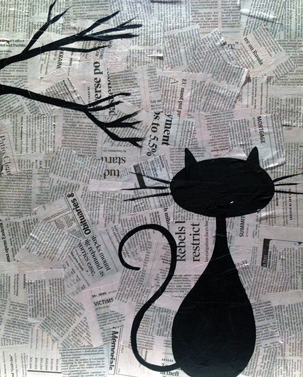 Black Cat Collage