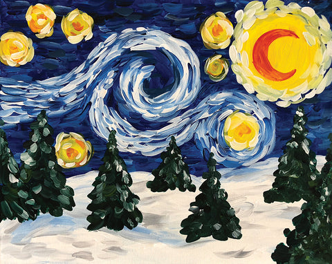 "Traveling Studio: ""Starry Snow"" at Sweet Heart Winery"